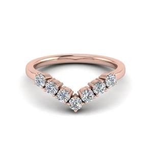 V Design 7 Diamond Band