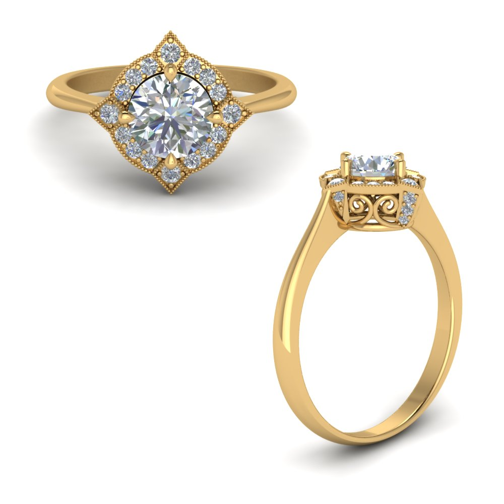 Cathedral Filigree Diamond Engagement Ring With Blue Topaz