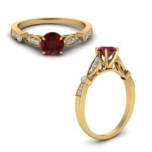 Vintage Cathedral Ruby Ring