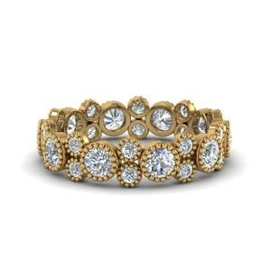 Vintage Diamond Eternity Ring 2 Carat