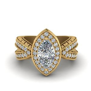 Vintage Marquise Halo Diamond Ring