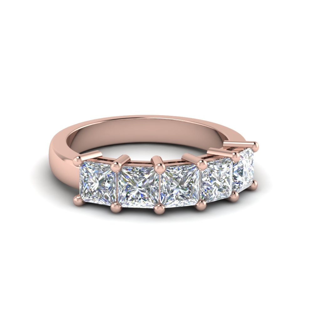 Princess cut Diamond Wedding Anniversary Band