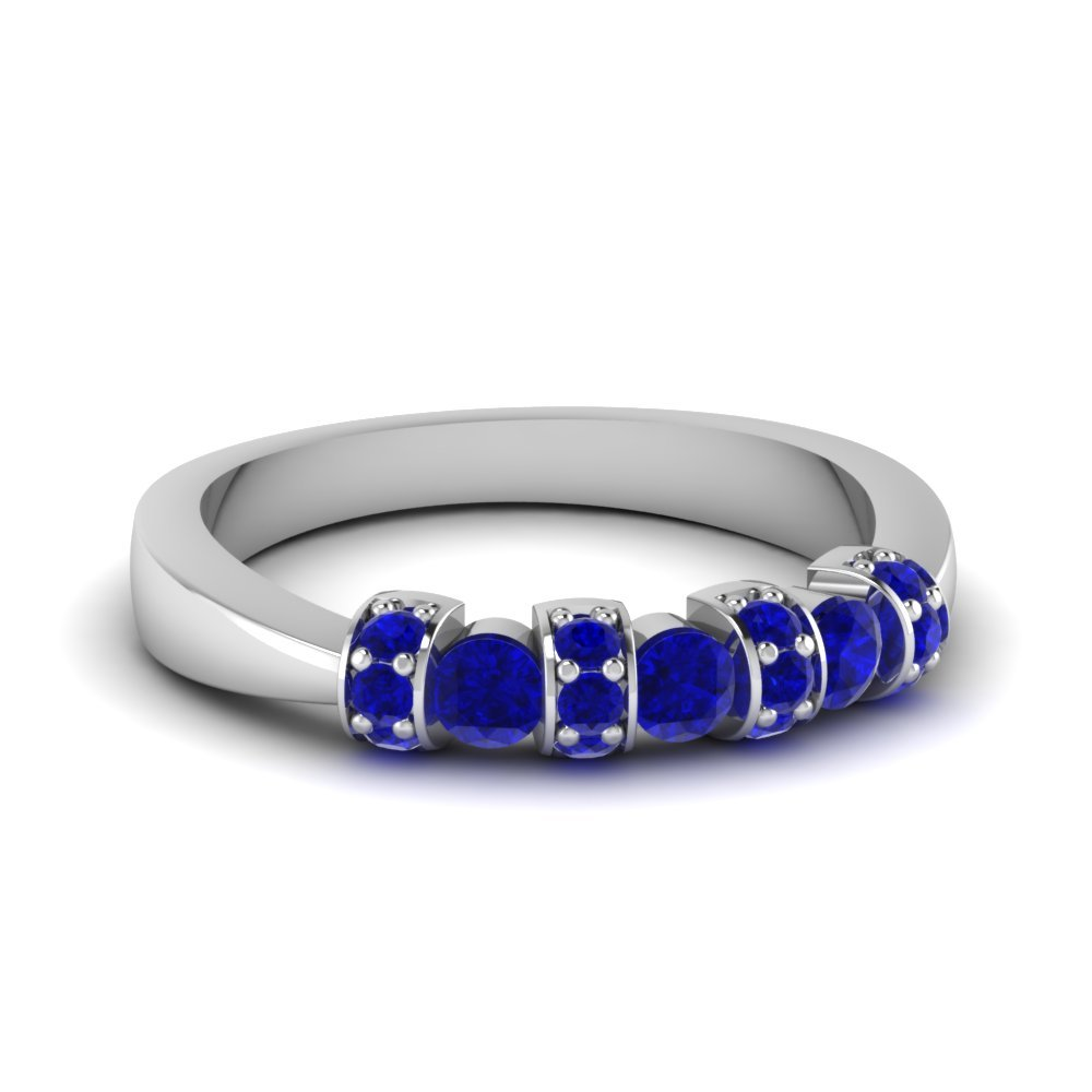 Stackable Sapphire Wedding Band