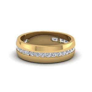 Mens Diamond Channel Set Ring