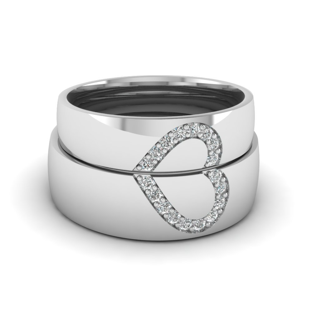 Wedding Diamond Anniversary Gifts For Couples In 14K White Gold