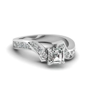 Channel Twisted Diamond Ring