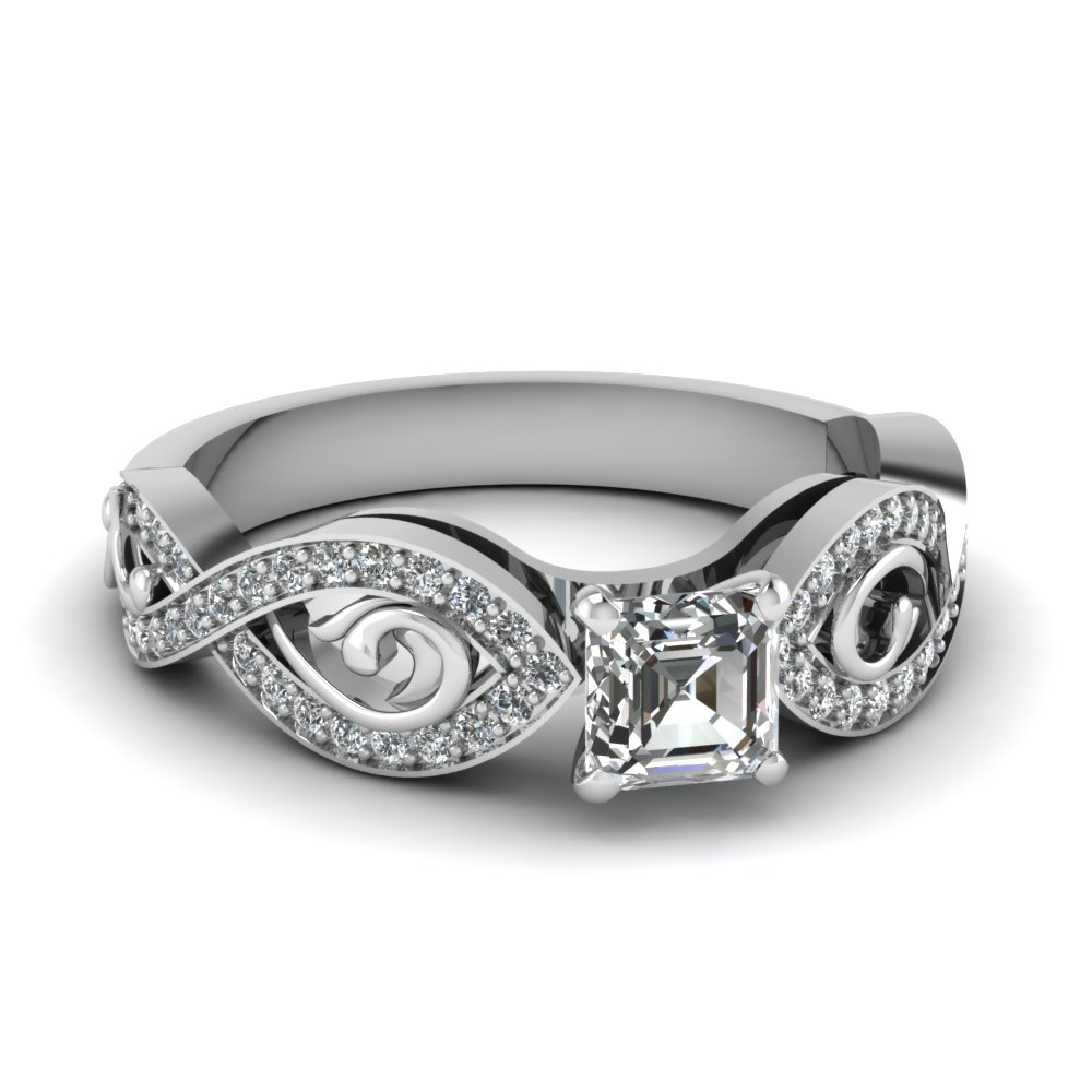 Modern Infinity Engagement Ring
