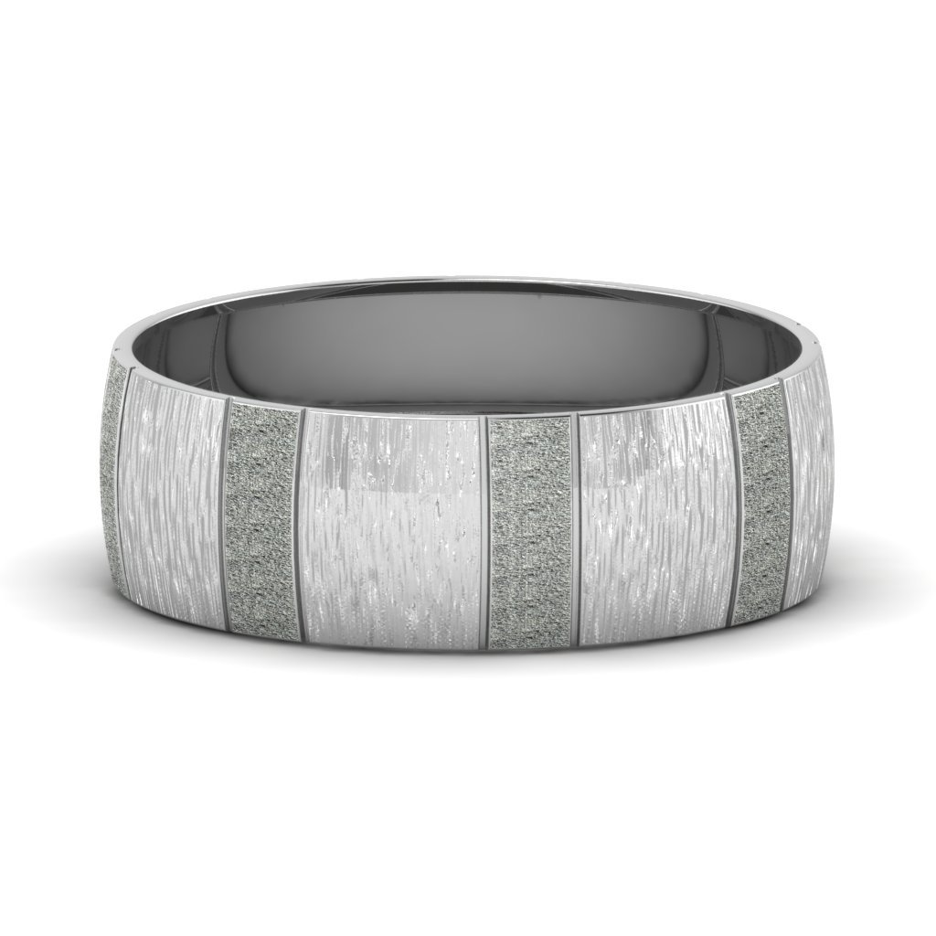 Carved Cross Satin finish Men's Promise Band