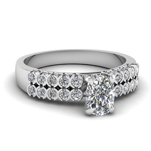 2 Row Bezel Set 3/4 Ct. Diamond Ring
