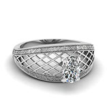 Solitaire Filigree Diamond Ring