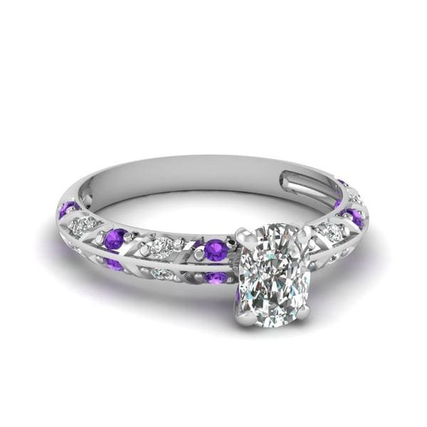 Cushion Cut Pave Diamond Ring