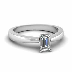Traditional Emerald Cut Diamond Ring