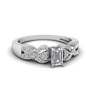 Intertwined Emerald Cut Infinity Ring