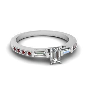 Delicate Diamond Ring With Baguette