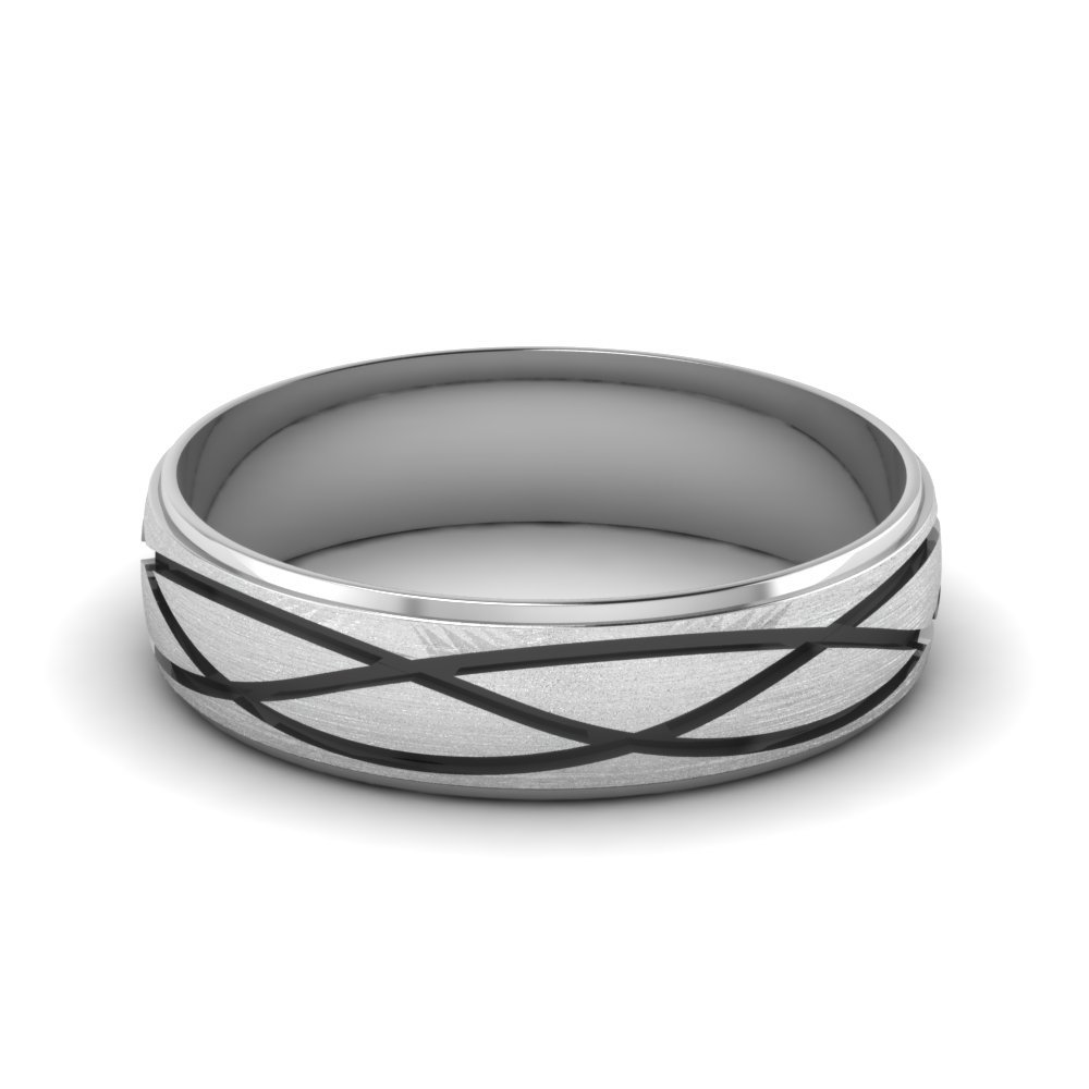 Fancy Milled Design Promise Band