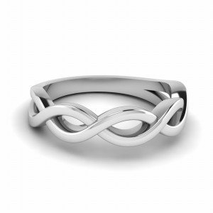 Infinity Plain Wedding Band