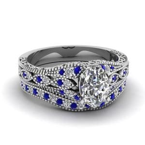 Platinum Sapphire Ring And Band