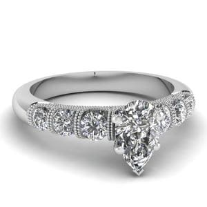 Diamond Antique Milgrain Ring