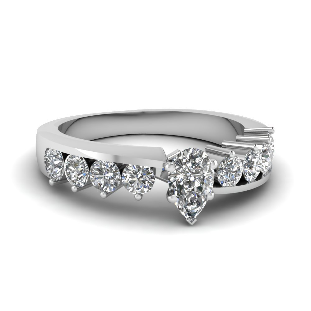 Floating Prong Engagement Ring