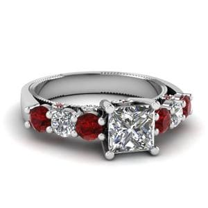 Vintage Style Ring With Ruby