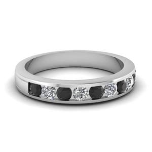 Round Cut Channel Wedding Band