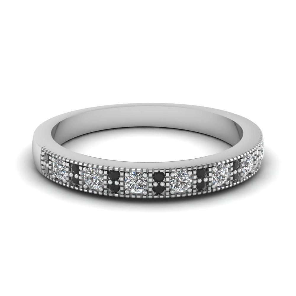 Black Diamond Vintage Wedding Band