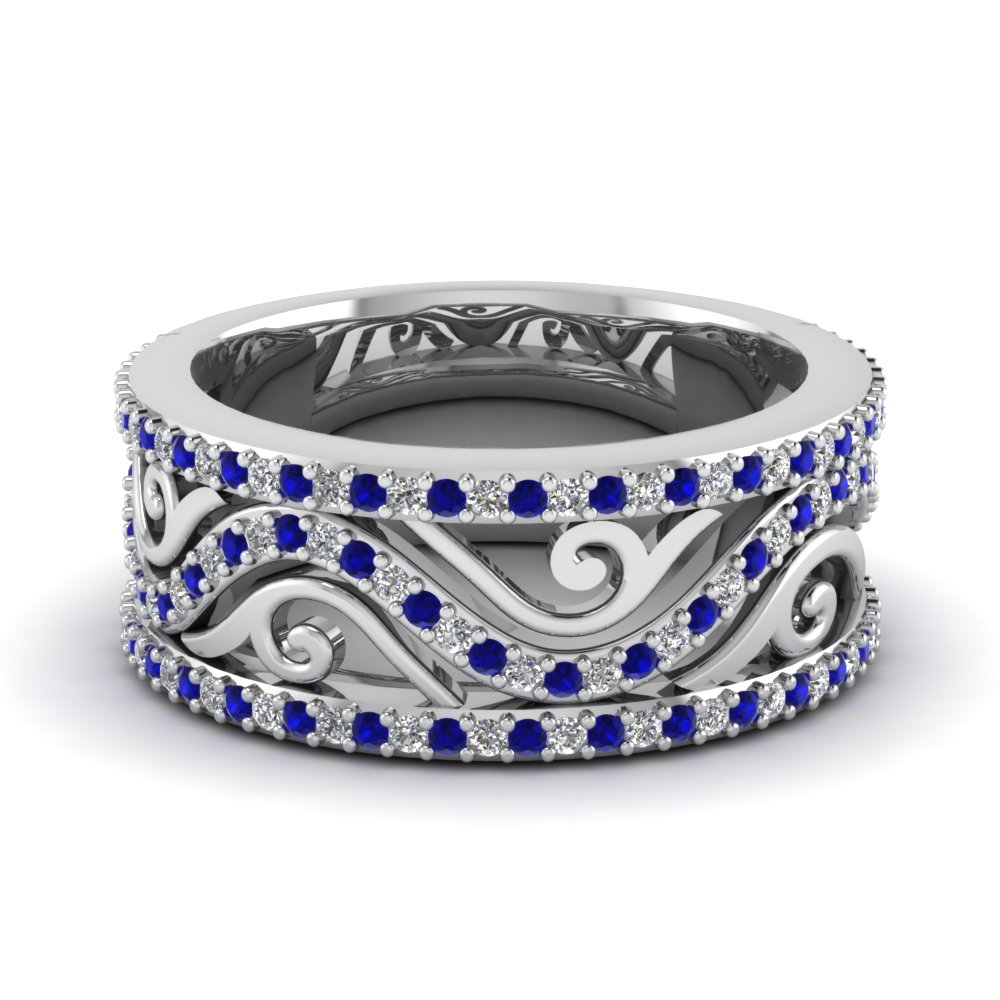 Antique Sapphire Wedding Band