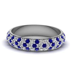 Sapphire Thick Wedding Band
