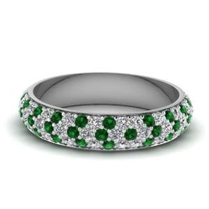 Emerald Wedding Band For Her