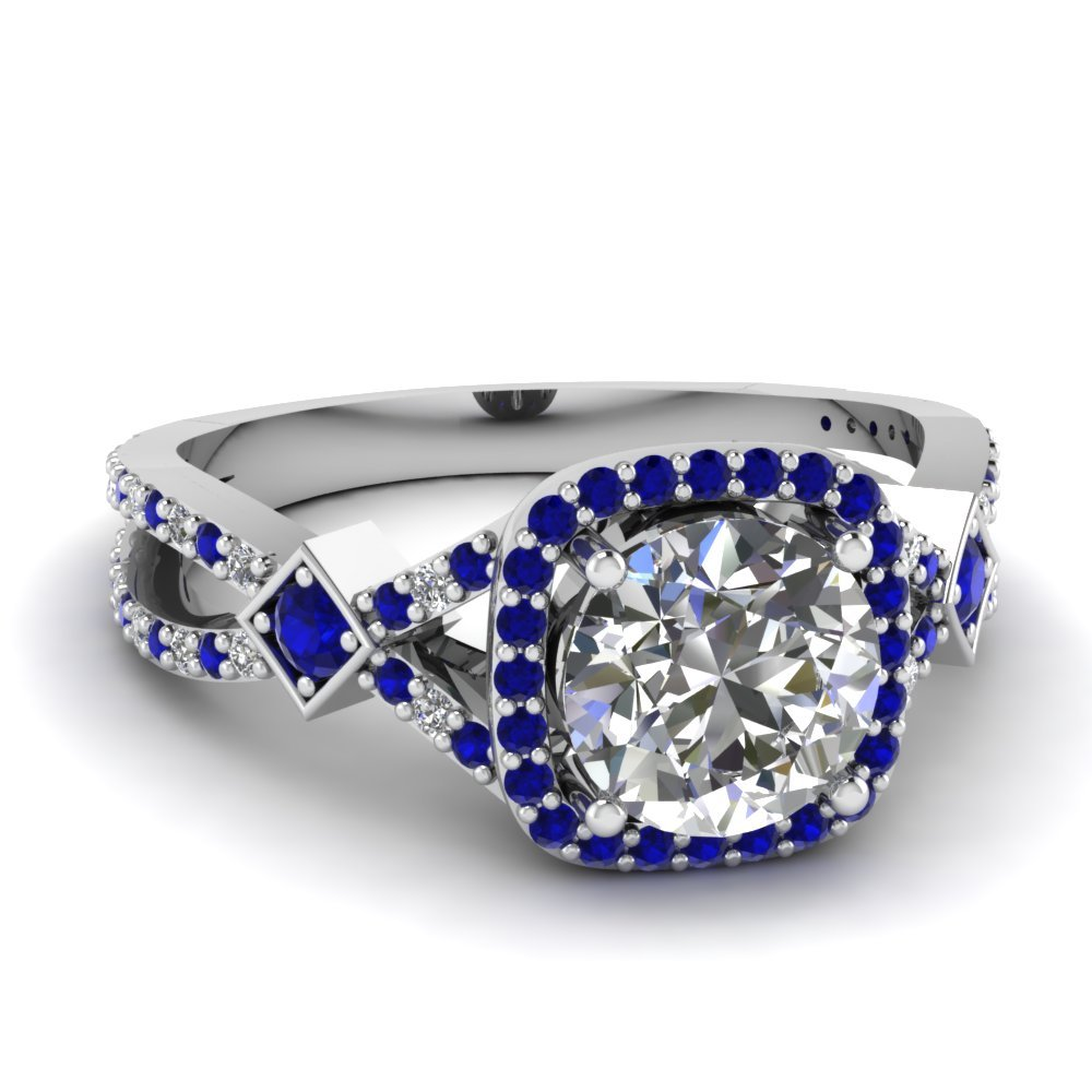 Sapphire White Gold Ring