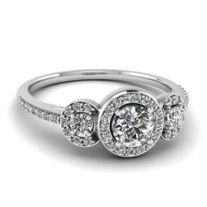 Round Diamond Halo Ring