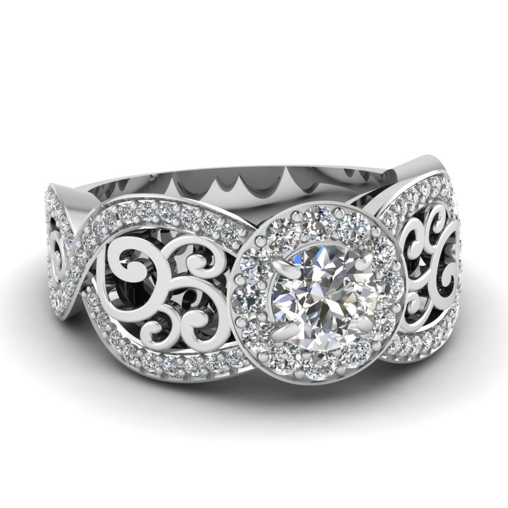 Entwined Filigree Engagement Ring