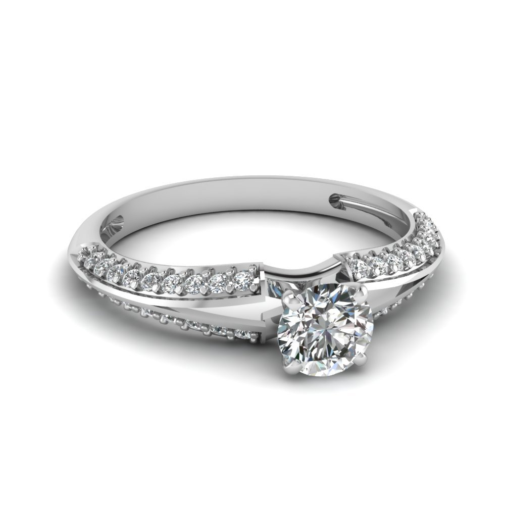 Delicate Split Round Diamond Ring