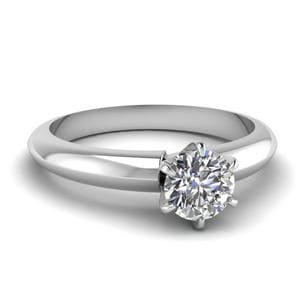 Solitaire Dome Diamond Engagement Ring