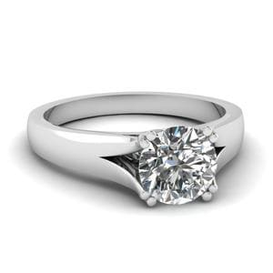 Cathedral Solitaire Diamond Ring