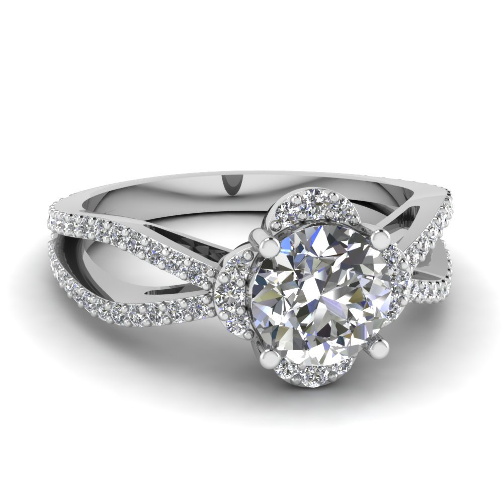 Reverse Split Shank Engagement Ring