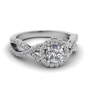 Entwined Round Diamond Infinity Ring
