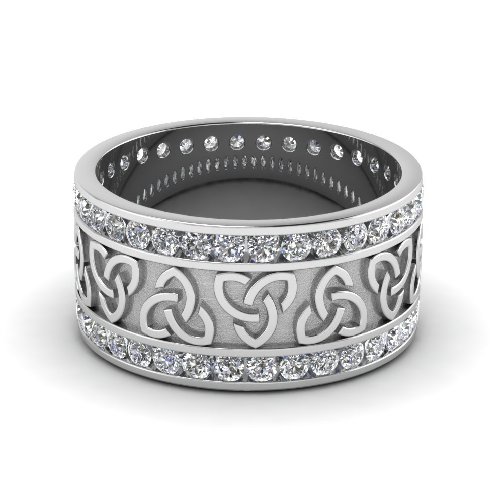 Diamond Celtic Wedding Band