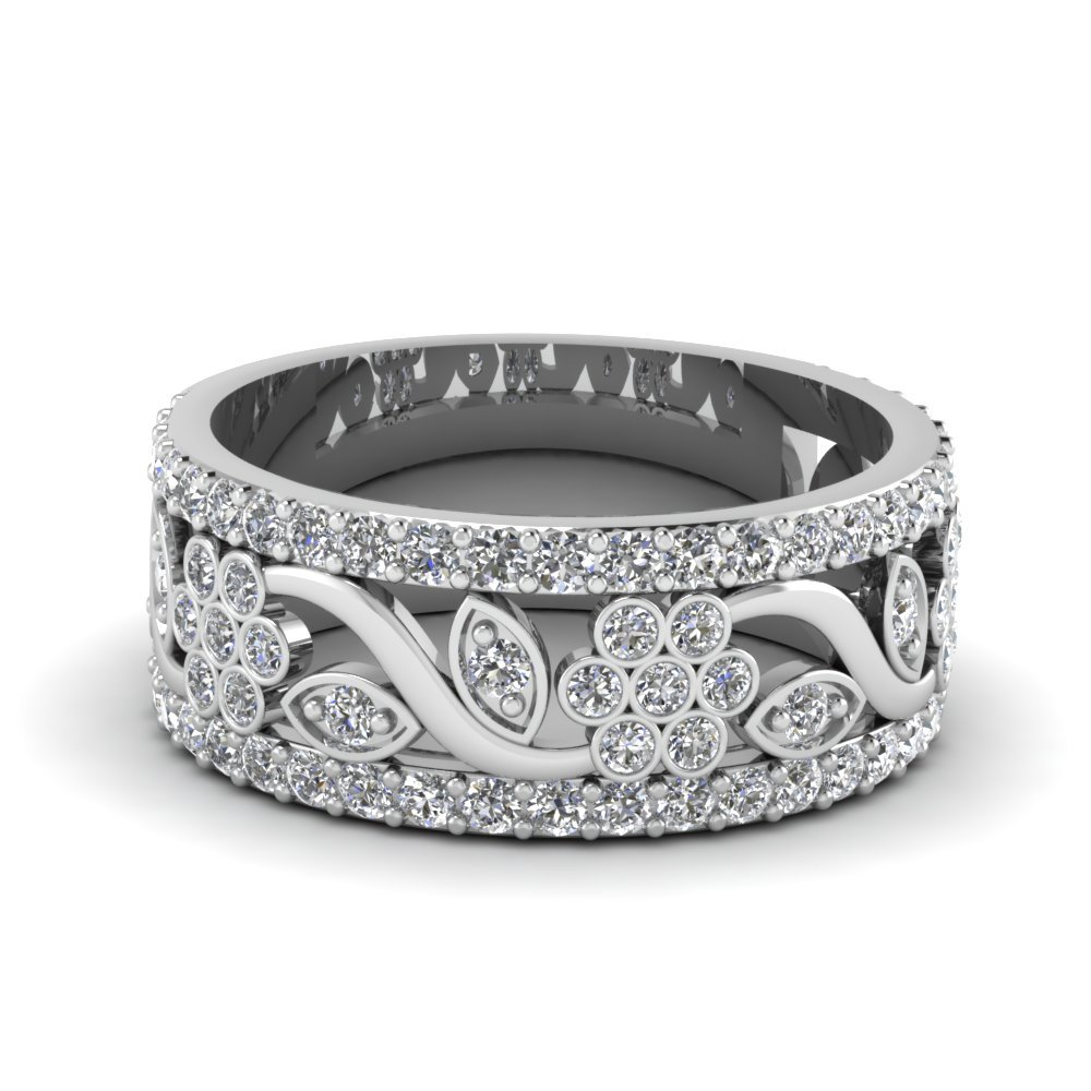 Floral Diamond Band