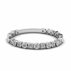 Round Diamond Stack Band