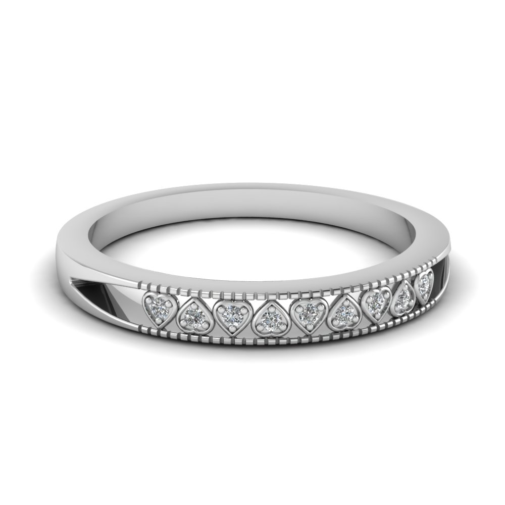 Heart Linked Diamond Band