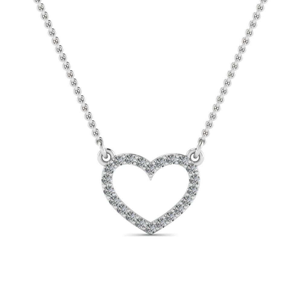 Diamond Heart Pendant Necklace