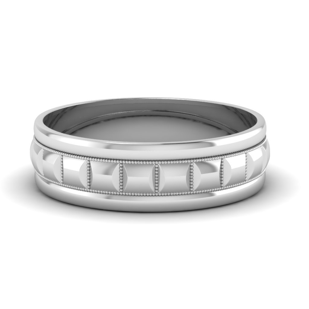 Traditional Milgrain Carved Men's Promise Band