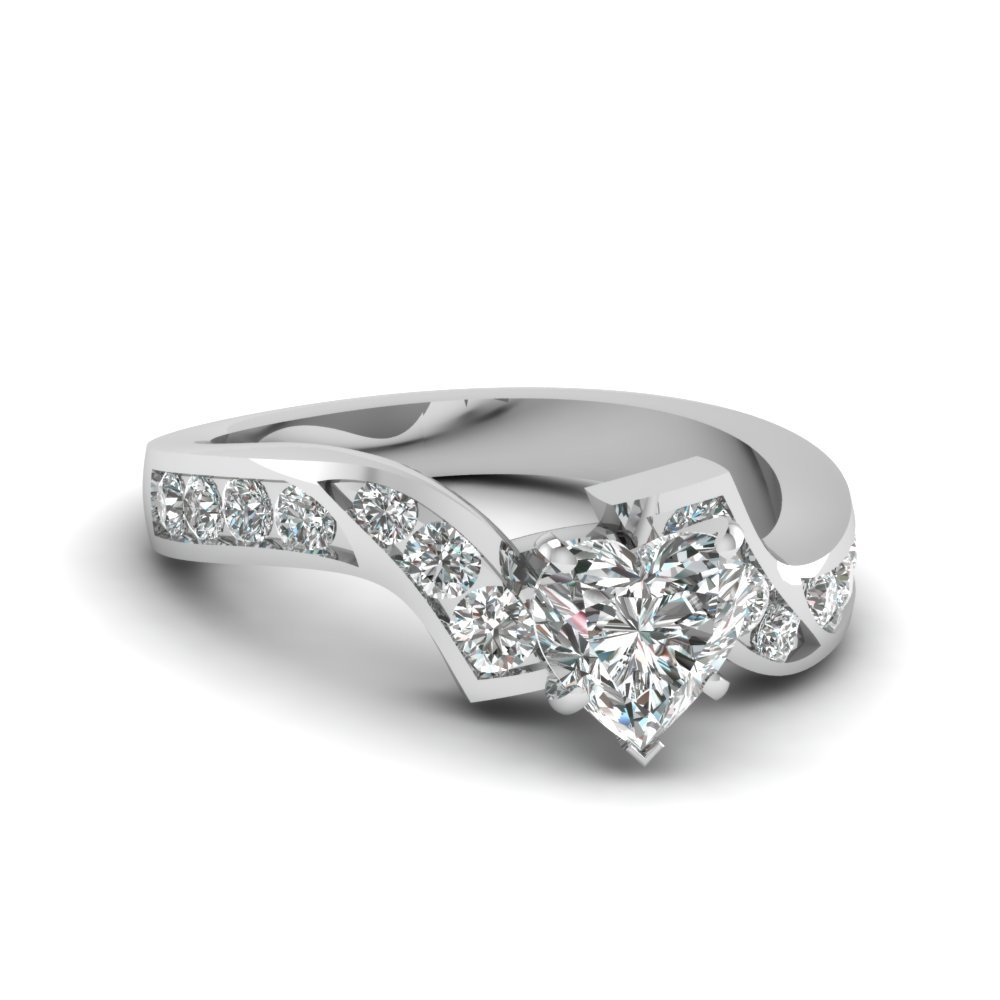 Twist Heart Diamond Ring