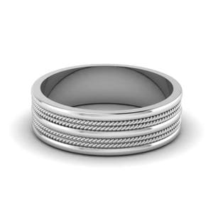 modern mens wedding band. modern platinum wedding band. twisted band mens