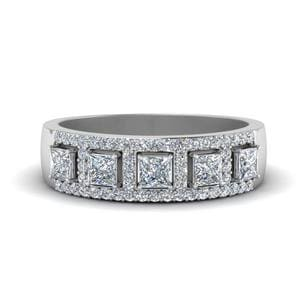 Halo Diamond Wedding Band
