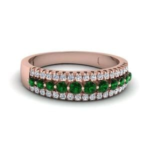 Emerald Anniversary Band For Women