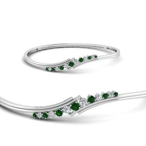 Twist Diamond Thin Bracelet