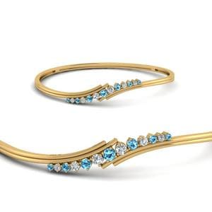 Twist Topaz Thin Bracelet
