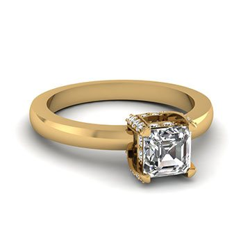 0.50 Ct. Asscher Cut Diamond Engagement Rings